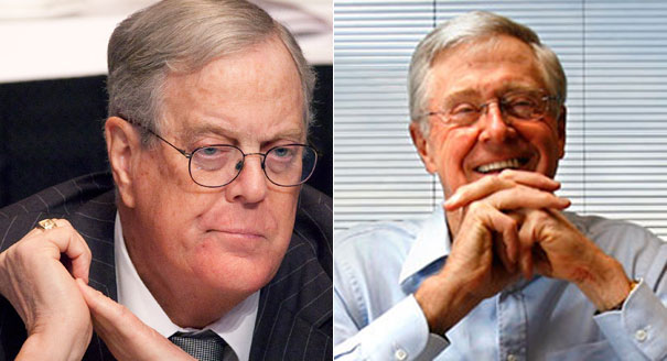 David and Charles Koch (AP Photos)