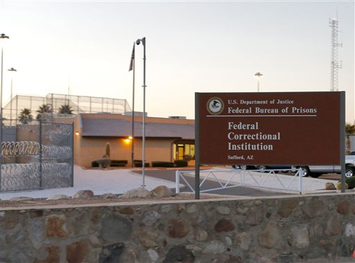"The Federal Correctional Institution is shown early Thursday, Feb. 27, 2014 in Safford, Ariz. 50-year-old Fernando Gonzalez, known to U.S. authorities as ""Ruben Campa"", a member of the ""Cuban Five"" spy ring, was released from the facility early Thursday where he completed his sentence. (AP Photo/Matt York)"