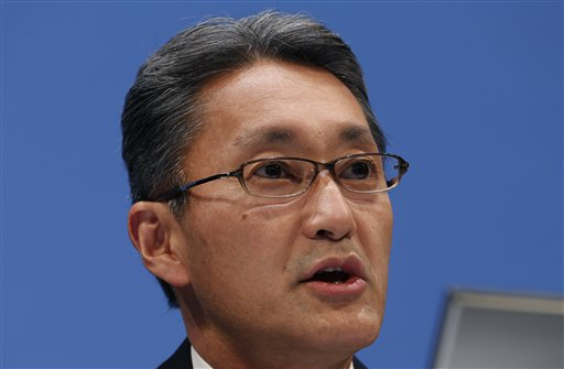 Sony Corp. President and CEO Kazuo Hirai speaks during a press conference at the Sony headquarters in Tokyo Thursday, Feb. 6, 2014 (AP Photo/Shizuo Kambayashi)
