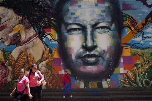 APTOPIX Venezuela Chavez Forever