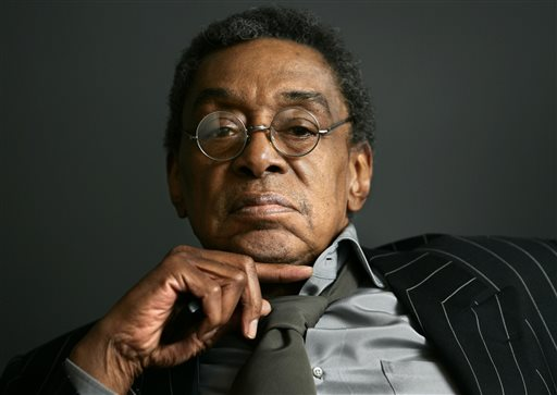 """This March 6, 2006 file photo shows Don Cornelius, the founder of """"Soul Train"""" at his office in Los Angeles. Stage and film producer Matthew Weaver, who helped create """"Rock of Ages,"""" has acquired the theatrical stage rights to the groundbreaking TV show and says he's hoping to turn it into a show that attracts die-hard Broadway fans and those who usually avoid Times Square. (AP Photo/Damian Dovarganes, File)"""