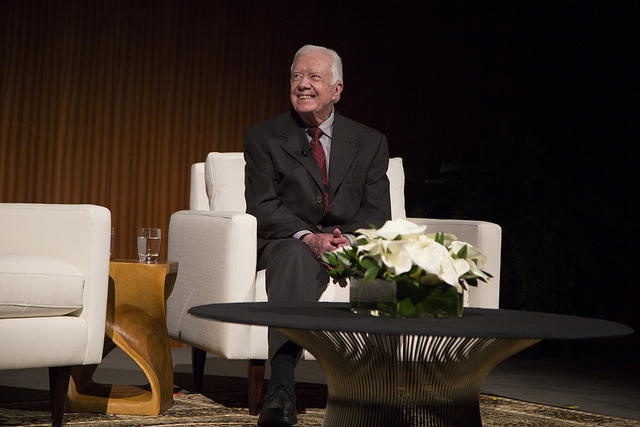 Former President Jimmy Carter (Photo by David Hume Kennerly/LBJ Foundation)