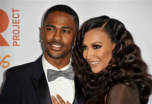 """In this Dec. 8, 2013 file photo, Big Sean, left, and Naya Rivera arrive at TrevorLIVE Los Angeles Benefit at the Hollywood Palladium, in Los Angeles. The rapper and actress are no longer engaged. A spokeswoman for Big Sean announced Wednesday, April 9, 2014, that he has canceled plans to marry the """"Glee"""" star. (Photo by Richard Shotwell/Invision/AP, file)"""