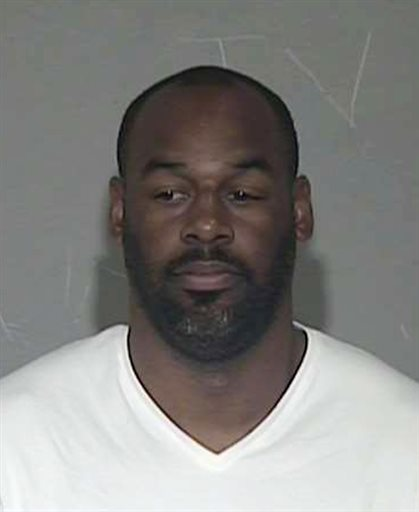 In a photo provided by the Maricopa County Sheriff's Office, former NFL quarterback Donovan McNabb appears in a photo at jail. McNabb has been released from an Arizona jail after serving a one-day sentence for a DUI arrest late last year. Records released by West Mesa Justice Court show the 37-year-old McNabb served his time Wednesday and was released Thursday morning. McNabb was arrested Dec. 15 on the Salt River Pima-Maricopa Indian Community. He pleaded guilty on March 27 and nine days of his sentence was suspended. (AP Photo/Maricopa County Sheriff's Office)