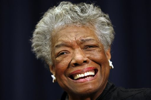 """In this Nov. 21, 2008 file photo, poet Maya Angelou is shown in Washington.  Angelou will not attend the 2014 MLB Beacon Awards Luncheon where she will be honored due to issues with her health. Major League Baseball announced Friday, May 23, 2014 because of """"health reasons"""" the 86-year-old won't make it to the May 30 event in Houston before the annual Civil Rights Game. (AP Photo/Gerald Herbert, File)"""