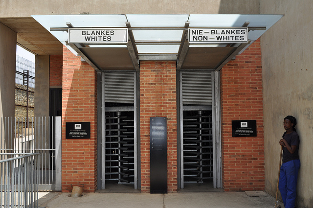 Apartheid Museum entrance in Johanenesburg. (Raymond June/Flickr)