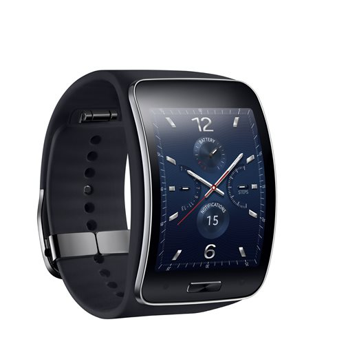 This undated product image provided by Samsung shows the Gear S watch. Samsung unveiled the new Gear S, the company's fourth major smartwatch in a year, Thursday, Aug. 28, 2014. (AP Photo/Samsung)