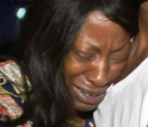 Tritobia Ford, the mother of Ezell Ford, grieves his tragic death last week. (Courtesy Photo)