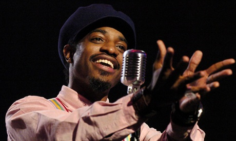 "Andre 3000 from the group OutKast performs ""Hey Ya"" during rehearsals for the 31st annual American Music Awards, Thursday, Nov. 13, 2003, in Los Angeles The awards will be given on Sunday. (AP Photo/Mark J. Terrill)"