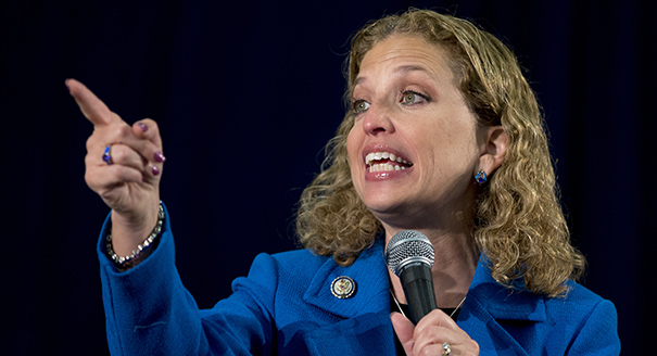 This Oct. 11, 2012 file photo shows Democratic National Committee Chair, Rep. Debbie Wasserman Schultz, D- Fla., speaking at the University of Miami in Coral Gables, Fla. President Barack Obama wants Wasserman Schultz to stay on as his party's chairwoman. Wasserman Schultz has overseen the Democratic National Committee since early 2011. Party officials credit her in part with helping the president carry her home state of Florida, as well as leading the party to an expanded majority in the Senate and more seats in the House. (AP Photo/Carolyn Kaster, File)