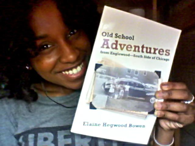 """Elaine Hegwood Bowen with her book """"Old School Adventures from Englewood - South Side of Chicago"""" (Courtesy photo)"""