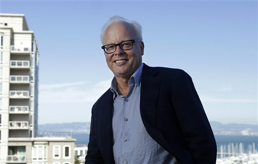 In this Sept. 16, 2014 photo, Ray Ozzie, of the new startup Talko, poses for photographs in San Francisco. Ozzie, Microsoft's former chief software architect, hopes to orchestrate voice's comeback through Talko, a mobile application that sends the equivalent of text messages in the form of a spoken word. (AP Photo/Jeff Chiu)