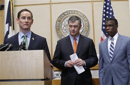 Judge Clay Jenkins, Mike Rawlings, Zachary Thompson