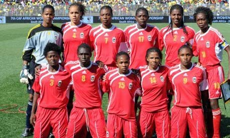 Equatorial Guinea's women's football team from 2010 (AP Photo)