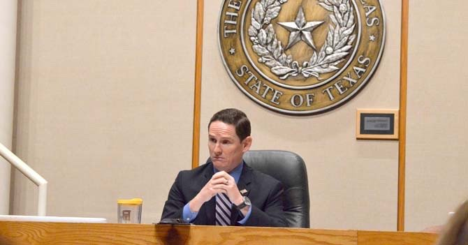 County Judge Clay Jenkins attempted to discuss proposed charges toward families for a future video visitation of Dallas County inmates during a Dallas County Commissioners Court meeting, Sept. 16. As advised by legal council, Jenkins waited until the Sept. 23 meeting to address the issue. (Mike McGee/The Dallas Examiner)