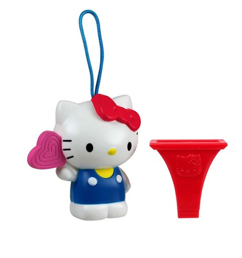 "This undated image provided by the U.S. Consumer Product Safety Commission shows a ""Hello Kitty Birthday Lollipop"" whistle, which McDonald's gave to children in Happy Meals. McDonald's is recalling the toys because there is a chance children could choke on some of its parts. (AP Photo/Courtesy U.S. Consumer Product Safety Commission)"