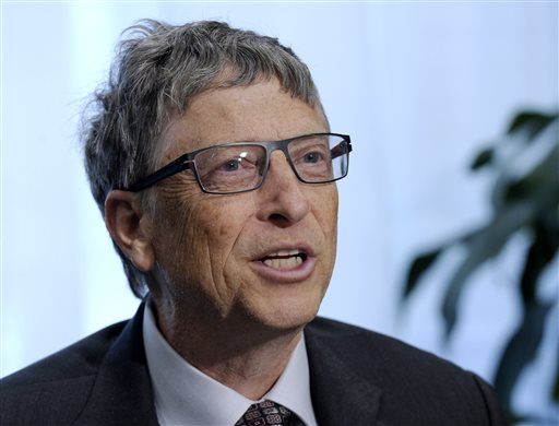 In this March 13, 2014 file photo, Bill Gates participates in a media availability on Capitol Hill in Washington.   We may be the Internet generation. But we don't know much about how it works. That's according to a new Pew Research Center survey released Tuesday that found most people can recognize Microsoft founder Bill Gates and know that hashtags belong in Twitter postings, but are confused whether privacy policies mean that a company actually keeps consumer information confidential. (AP Photo/Susan Walsh)