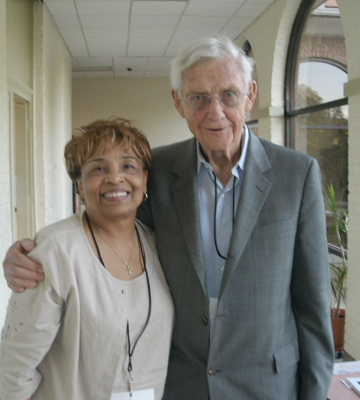 Flonzie Brown-Wright and John Doar at Tougaloo College, 2011 (Photo courtesy Flonzie Brown-Wright).