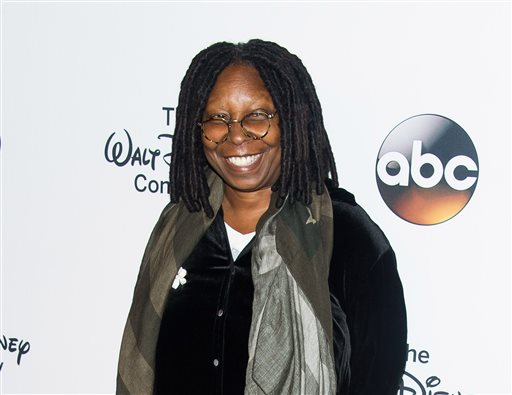 """In this May 14, 2014 file photo, co-host Whoopi Goldberg attends the """"A Celebration of Barbara Walters,"""" celebration in New York. Goldberg has a deal with Hachette Books for a """"provocative"""" take on the """"downsides"""" of marriage, the publisher announced Tuesday, Nov. 11. The book, currently untitled, is scheduled to come out next September. (Photo by Charles Sykes/Invision/AP, File)"""