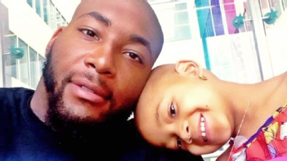 Cincinnati Bengals defensive tackle Devon Still with his 4-year old daughter Leah, who is battling Stage 4 pediatric cancer (Courtesy of Devon Still)