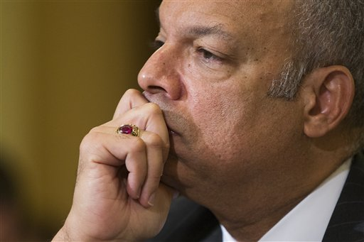 Homeland Security Secretary Jeh Johnson listens on Capitol Hill in Washington, Tuesday, Dec. 2, 2014, as he testifies before a House Homeland Security Committee hearing on the impact of President Barack Obama's executive action on immigration. (AP Photo/Evan Vucci)