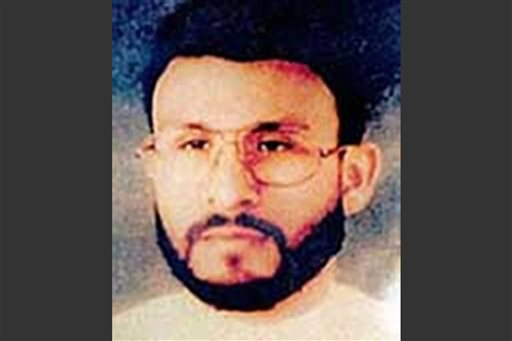 This photo provided by U.S. Central Command, shows Abu Zubaydah, date and location unknown. When the CIA sought permission to use harsh interrogations methods on a captured al-Qaida operative, the response from Bush administration lawyers was encouraging, even clinical. In one of several memos that would form the legal underpinnings for brutal interrogation techniques, the CIA was told that Abu Zubbaydah could lawfully be place din a box with an insect, kept awake for days at a time and repeatedly slapped in the face.  (AP Photo/U.S. Central Command)