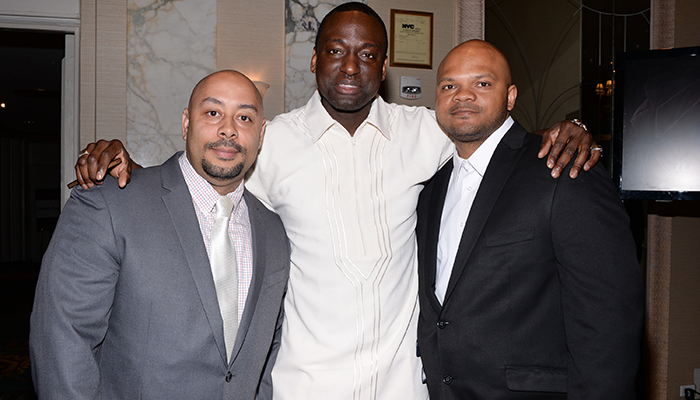 Three of the Central Park Five. (Photo by Evan Agostini/Invision/AP)