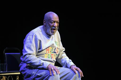 In this Nov. 21, 2014 file photo, comedian Bill Cosby performs during a show at the Maxwell C. King Center for the Performing Arts in Melbourne, Fla. For five decades, Bill Cosby maintained a busy standup career even as his TV visibility rose and fell and new generations of comedians took center stage. But the renewal of sexual assault claims that have soured TV and other comeback deals for Cosby are undermining the live performances that represent his direct avenue to fans and a semblance of business as usual. (AP Photo/Phelan M. Ebenhack, File)