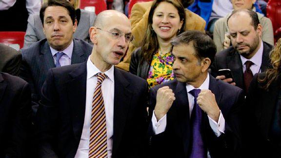 NBA Commissioner Adam Silver and Sacramento Kings owner Vivek Ranadive  (Rich Pedroncelli/AP Photo)
