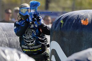 Five Montezuma High (Iowa) seniors remember the first time they got hit playing paintball. (AP Photo/Chris Park)