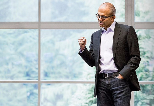 Microsoft Chief Executive, Satya Nadella.  (Bhupinder Nayyar/Flickr/Creative Commons)