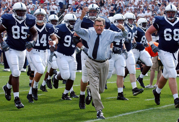 In the settlement, Penn State's wins from 1998 to 2011 would be restored, again making Joe Paterno, who died in 2012, the winningest head coach in college football. Credit Carolyn Kaster/Associated Press