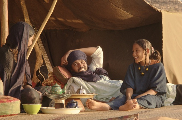 Toulou Kiki, Ibrahim Ahmed, and Laya Walet Mohamed co-star in the drama, Timbuktu. (Courtesy Photo)