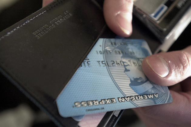 An American Express card (Newscast Limited via AP Images)