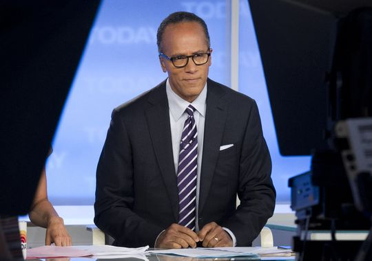 """This Sept. 16, 2012 photo released by NBC shows Lester Holt on the set of """"Today"""" in New York. (Charles Sykes/AP Photo)"""