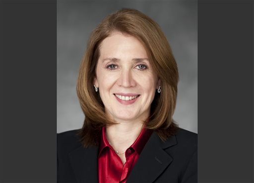 This 2012 photo provided by Morgan Stanley shows outgoing Chief Financial Officer Ruth Porat. Morgan Stanley on Tuesday, March 24, 2015 announced that Porat is leaving the New York investment bank for the same job at Google. (AP Photo/Camera 1 via Morgan Stanley, Larry Lettera)