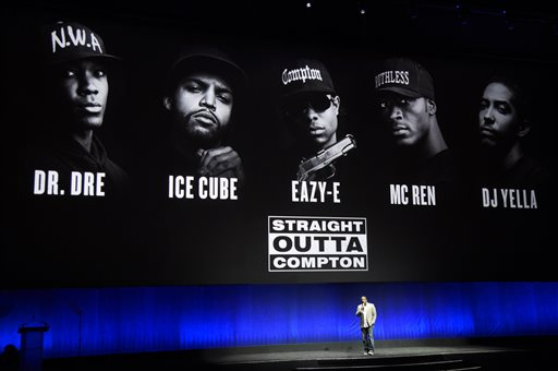 "F. Gary Gray, director of the upcoming drama ""Straight Outta Compton,"" discusses the film onstage during the Universal Pictures presentation at CinemaCon 2015 at Caesars Palace on Thursday, April 23, 2015, in Las Vegas. (Photo by Chris Pizzello/Invision/AP)"
