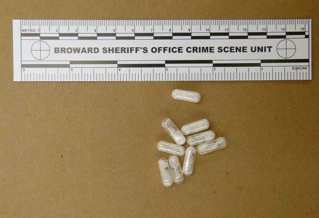 This Feb. 12, 2015 photo made available by the Broward Sheriff's Office, Fla., shows confiscated vials of flakka. This emerging drug can alter brain chemistry in such a way that users can't control their thoughts and it can increase adrenalin.(Broward Sheriff's Office/AP Photo)