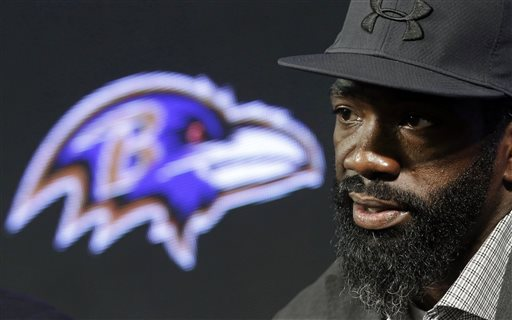 Baltimore Ravens safety Ed Reed speaks at an NFL football news conference announcing his retirement, Thursday, May 7, 2015, in Owings Mills, Md. (AP Photo/Patrick Semansky)