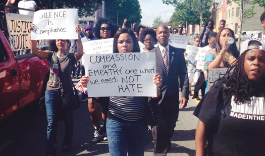 Marchers take to streets of Baltimore May 10 as part of continued demands for justice in the death of Freddie Gray, 25, who died a week after an encounter with police. (Courtesy of The Final Call)