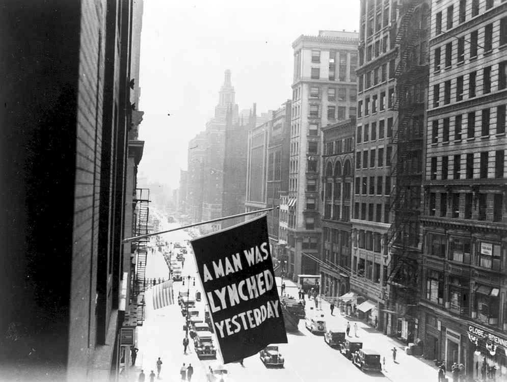 The NAACP lynching flag.