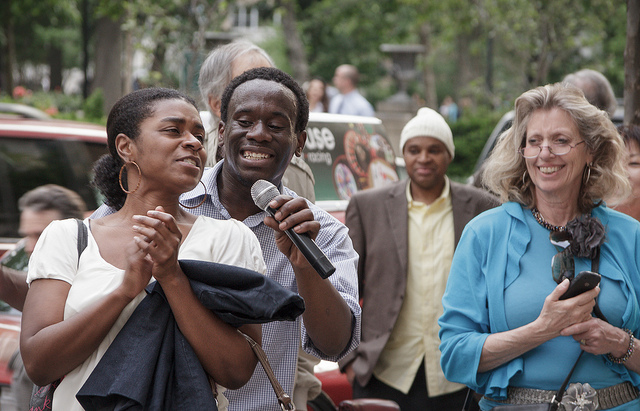 Singer, Anthony Riley, performing outside of Philly's Rittenhouse Park. (Ahd Photography/Flickr/CC BY-N.C. 2.0)