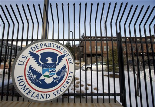 This Feb. 24, 2015, file photo, shows the Homeland Security Department headquarters in northwest Washington. The Department of Homeland Security said in a statement Thursday, June 4, 2015, that data from the Office of Personnel Management and the Interior Department had been hacked. (AP Photo/Manuel Balce Ceneta, File)