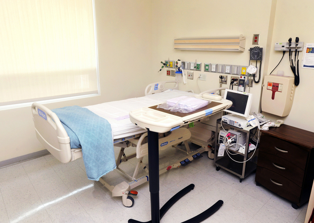 This handout photo provided Friday, August, 1, 2014, by Emory University, shows the isolation room at Emory University Hospital set up to treat patients exposed to certain infectious diseases and where an American aid worker infected with the Ebola virus in Africa will be treated in Atlanta. Dr. Bruce Ribner said Friday two American aid workers infected with the Ebola virus in Africa will be treated at Emory University Hospital. (AP Photo/Emory University, Jack Kearse)