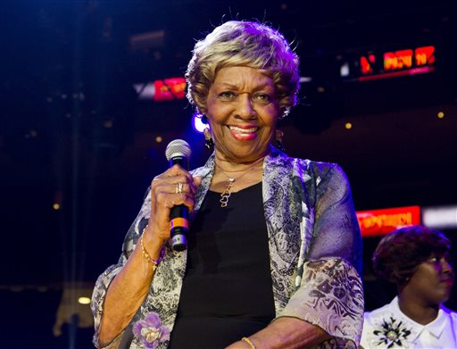 In this May 11, 2013 file photo, Cissy Houston performs during McDonald's Gospelfest 2013 at the Prudential Center in Newark, N.J. Houston, mother of the late Whitney Houston, will be honored at the Gospel Image Awards in Charlotte, N.C. Houston will be the lifetime achievement honoree at Saturday's event, held at the Halton Theater. (Photo by Charles Sykes/Invision/AP, File)
