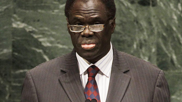 Burkina Faso President Michel Kafando. (AP Photo/Frank Franklin II)
