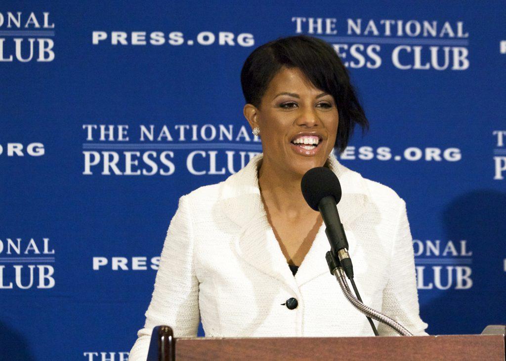 Mayor Stephanie Rawlings-Blake speaks during a press conference at the National Press Club in Washington, D.C. (Nancy Shia/The Washington Informer)