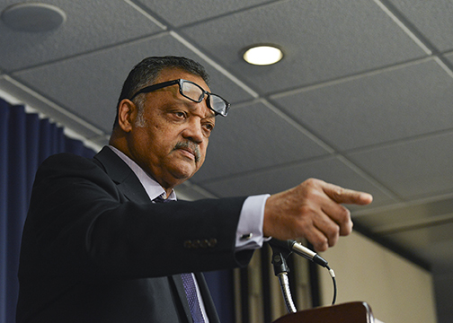 Rev. Jesse Jackson says that closing neighborhood schools too often divorces parents from their students' schools. Photo taken during a panel discussion on the the Voting Rights Act of 1965 at the National Press Club in Washington, D.C. on February 18, 2015(Freddie Allen/NNPA News Wire)