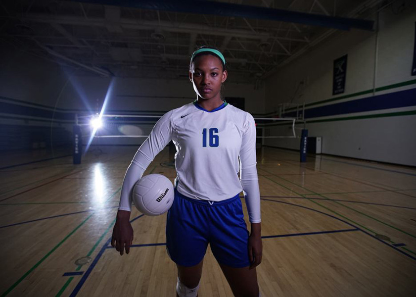 Khalia Lanier of  Xavier College Prep was named Gatorade National Volleyball Player of the Year. Lanier recorded 496 kills, 324 digs and 28 service aces while posting a kill percentage of .438 and leading the Gators (34-8) to the Division I state final this past season. (Gatorade.com)