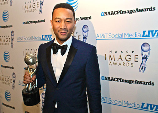 Singer John Legend was honored with the NAACP President's Award for his work and philanthropy. (Mesiyah McGinnis/Los Angeles Sentinel)
